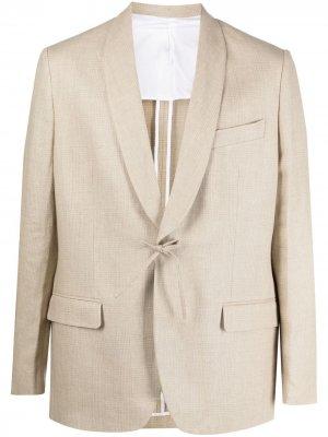 Пиджак с лацканами шалькой и завязками A Kind of Guise. Цвет: нейтральные цвета