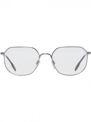 Очки в квадратной оправе Burberry Eyewear. Цвет: серый