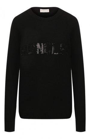 Пуловер из смеси шерсти и кашемира Moncler. Цвет: черный