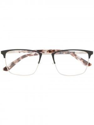 Очки в квадратной оправе черепаховой расцветки Calvin Klein. Цвет: черный