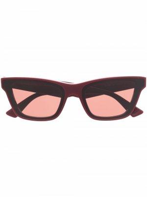 Square-frame sunglasses Bottega Veneta Eyewear. Цвет: красный