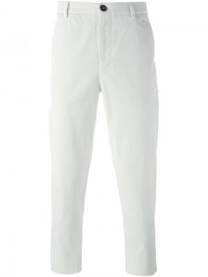 Классические брюки-чинос Brunello Cucinelli. Цвет: белый
