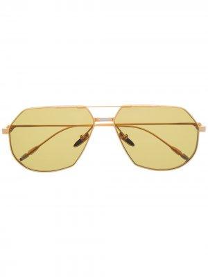 Солнцезащитные очки-авиаторы Reynold Jacques Marie Mage. Цвет: золотистый