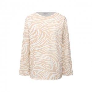 Хлопковый пуловер Eva B.Bitzer. Цвет: бежевый