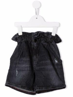 Джинсовые шорты с эластичным поясом Dondup Kids. Цвет: черный