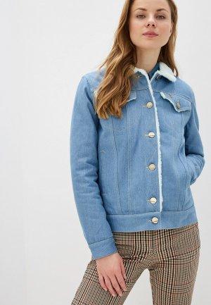 Куртка джинсовая Dasti Denim Urban. Цвет: голубой