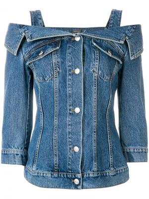 Джинсовая куртка с открытыми плечами Alexander McQueen