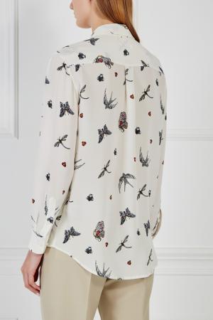 Шелковая блузка Equipment Femme. Цвет: белый