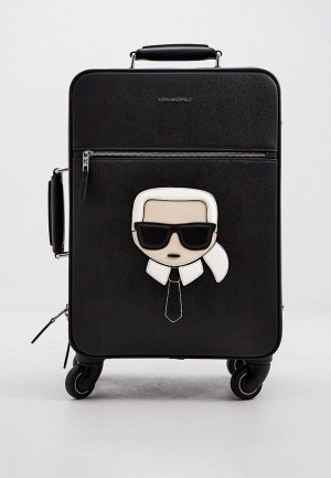 Чемодан Karl Lagerfeld IKONIK. Цвет: черный
