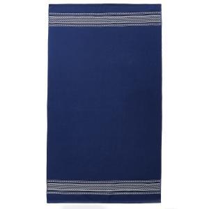 Полотенце пляжное из махровой ткани, Deco LA REDOUTE INTERIEURS. Цвет: темно-синий,фуксия