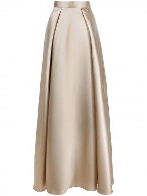 Юбка макси со складками Alberta Ferretti. Цвет: нейтральные цвета
