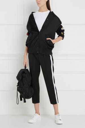 Бомбер с вышивкой Fendi. Цвет: черный