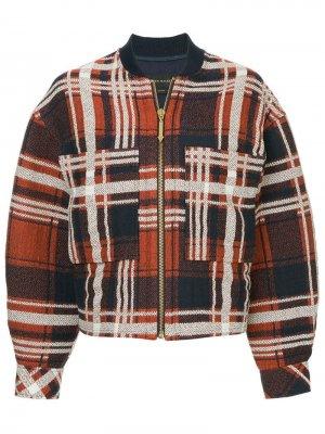 Куртка Checkmate Karen Walker. Цвет: разноцветный