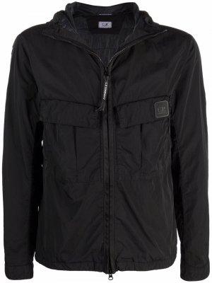 Куртка Chrome с капюшоном C.P. Company. Цвет: черный