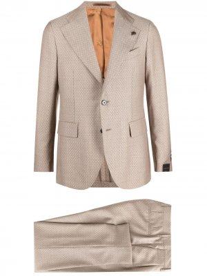 Строгий костюм с однобортным пиджаком Gabriele Pasini. Цвет: нейтральные цвета