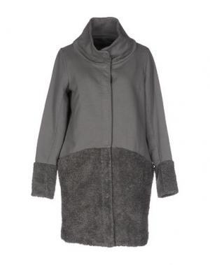 Пальто EUROPEAN CULTURE. Цвет: серый