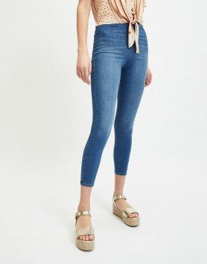 Укороченные синие джинсы скинни с очень высокой талией Steffi-Голубой Miss Selfridge