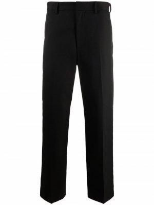Прямые брюки строгого кроя Acne Studios. Цвет: черный