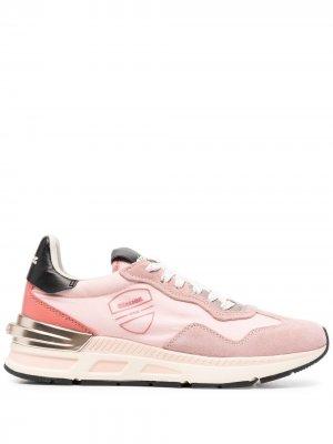 Кроссовки на шнуровке Blauer. Цвет: розовый