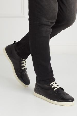 Кожаные ботинки CR7. Цвет: черный
