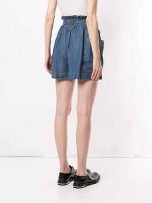Джинсовые шорты Karen Walker. Цвет: синий
