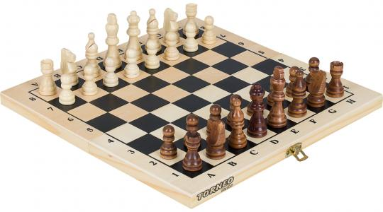 Настольная игра 2 в 1: шахматы, шашки Torneo. Цвет: бежевый