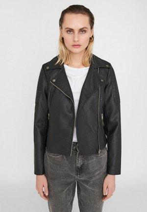 Куртка кожаная Noisy May. Цвет: черный