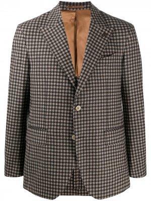 Пиджак строгого кроя в клетку Gabriele Pasini. Цвет: нейтральные цвета