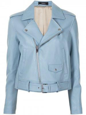 Байкерская куртка Theory. Цвет: синий
