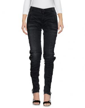 Джинсовые брюки-капри REDEMPTION. Цвет: черный