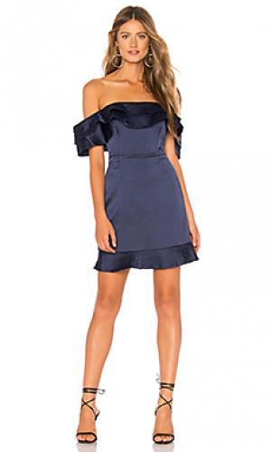 Платье athena Bardot. Цвет: синий
