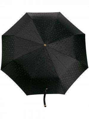 Складной зонт с декором Skull и кристаллами Alexander McQueen. Цвет: черный