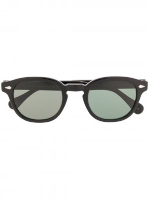 Солнцезащитные очки Lemtosh в круглой оправе Moscot. Цвет: черный
