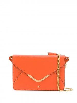 Кошелек на плечо Postbox Anya Hindmarch. Цвет: оранжевый