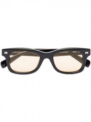 Солнцезащитные очки в квадратной оправе Rhude. Цвет: черный
