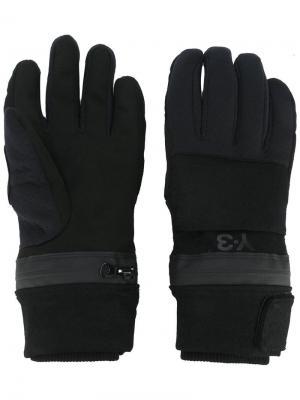 Зимние перчатки Y-3. Цвет: чёрный