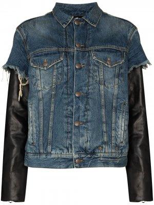 Джинсовая куртка Sky R13. Цвет: синий