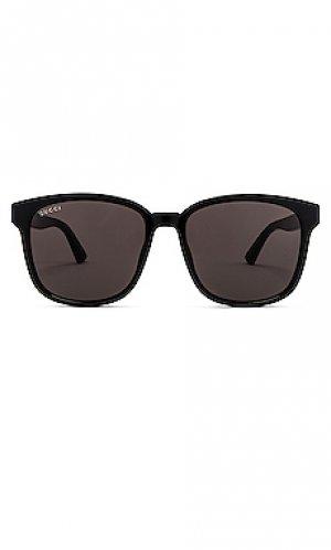 Солнцезащитные очки logo wayfarer Gucci. Цвет: черный