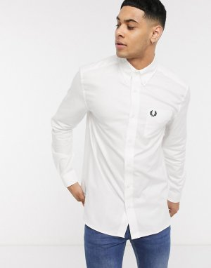 Белая оксфордская рубашка -Белый Fred Perry