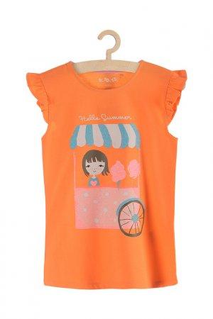 Майка для девочек 5.10.15.. Цвет: оранжевый