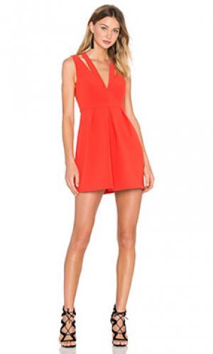 Мини платье clarye BCBGMAXAZRIA. Цвет: красный