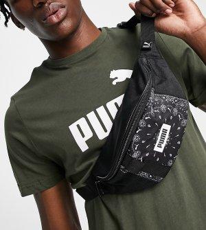 Черная сумка-кошелек на пояс с принтом пейсли -Черный цвет Puma