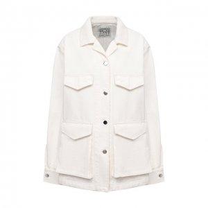 Джинсовая куртка Totême. Цвет: белый