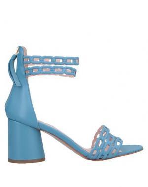 Сандалии ANNA F.. Цвет: небесно-голубой