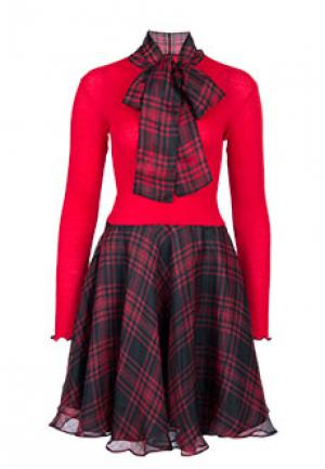 Платье BONA DEA. Цвет: красный