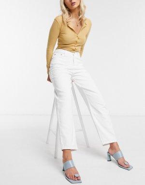 Белые oversized-джинсы бойфренда -Белый French Connection