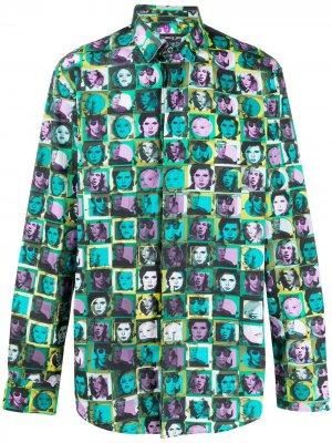Рубашка на пуговицах с принтом Frankie Morello. Цвет: зеленый