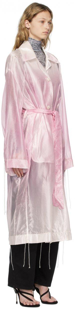 White & Pink Shiny Organza Coat Acne Studios. Цвет: coa fd pink