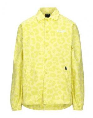 Pубашка HUF. Цвет: желтый