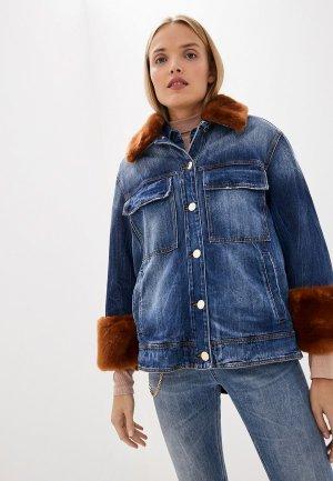 Куртка джинсовая Pinko. Цвет: синий